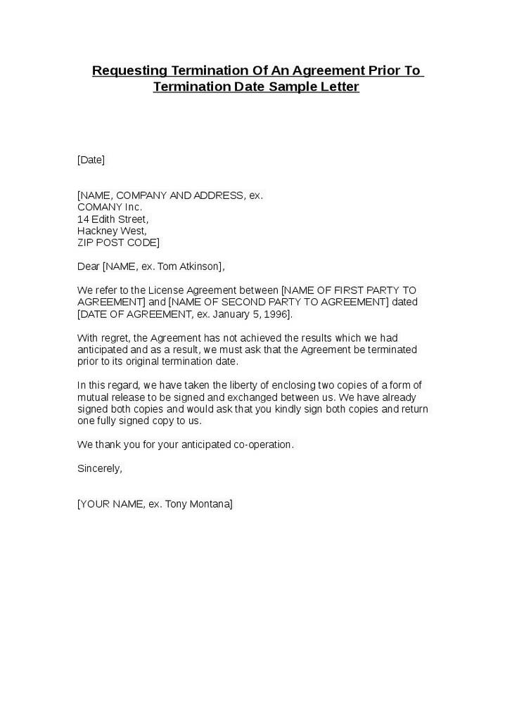 Mutual Termination Contract Template