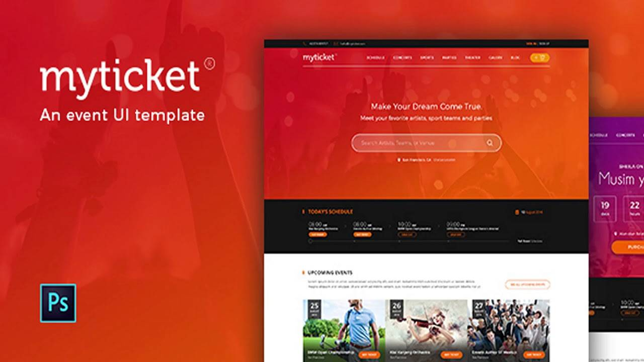 Myticket Event Ticket Hall Reservation Html5 Template Free Download