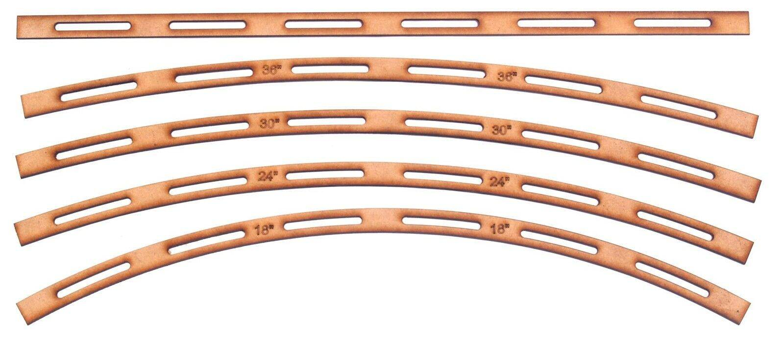 N Scale Model Railroad Track Templates