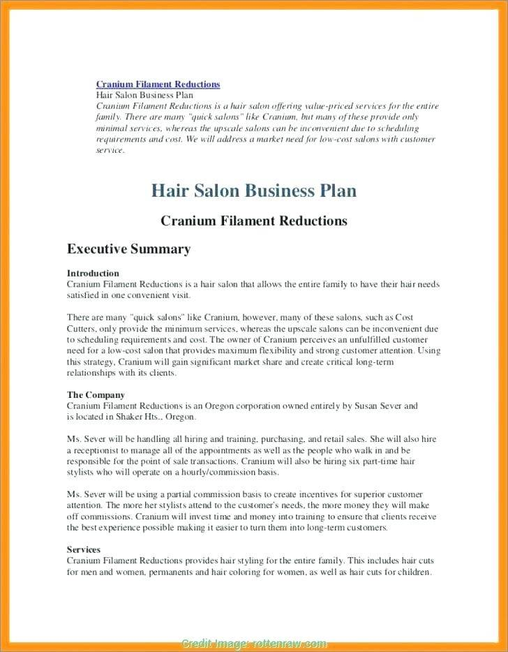Nail Salon Business Plan Template Free