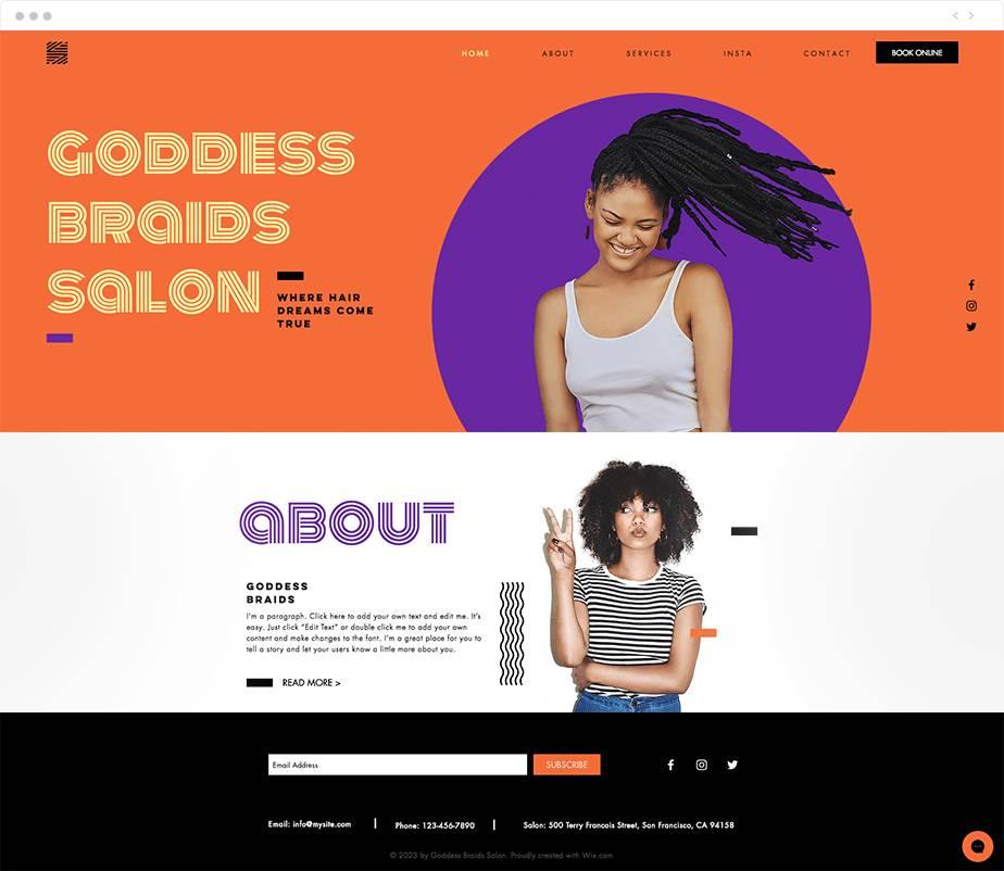 Nail Salon Website Templates