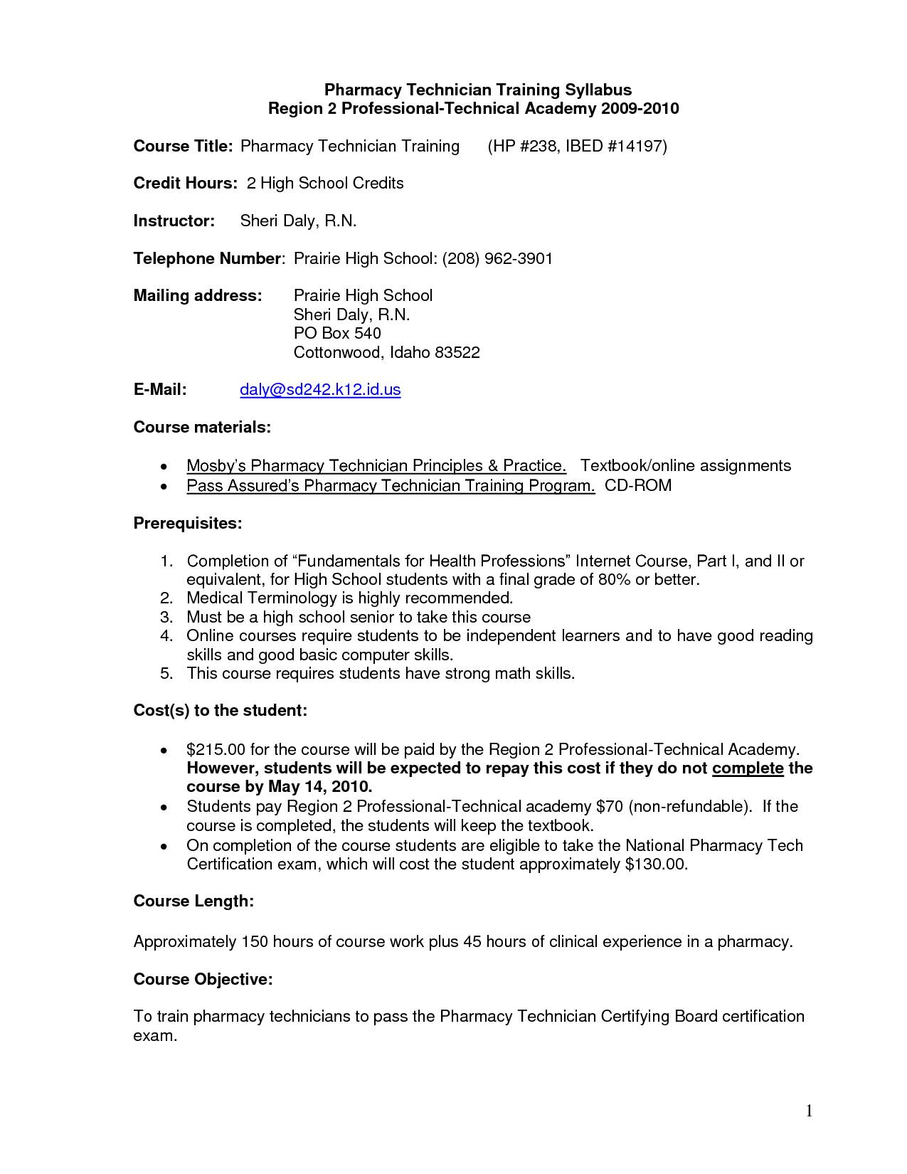 Nail Tech Resume Template