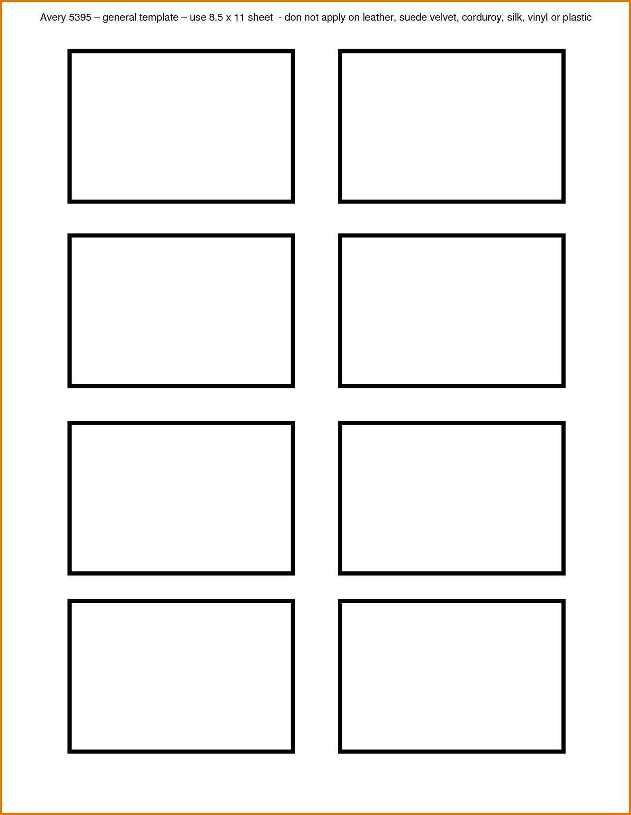 Name Badge Insert Template 8 Per Sheet