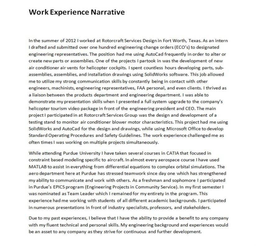 Narrative Resume Template