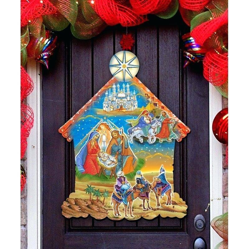 Nativity Scene Advent Calendar Template