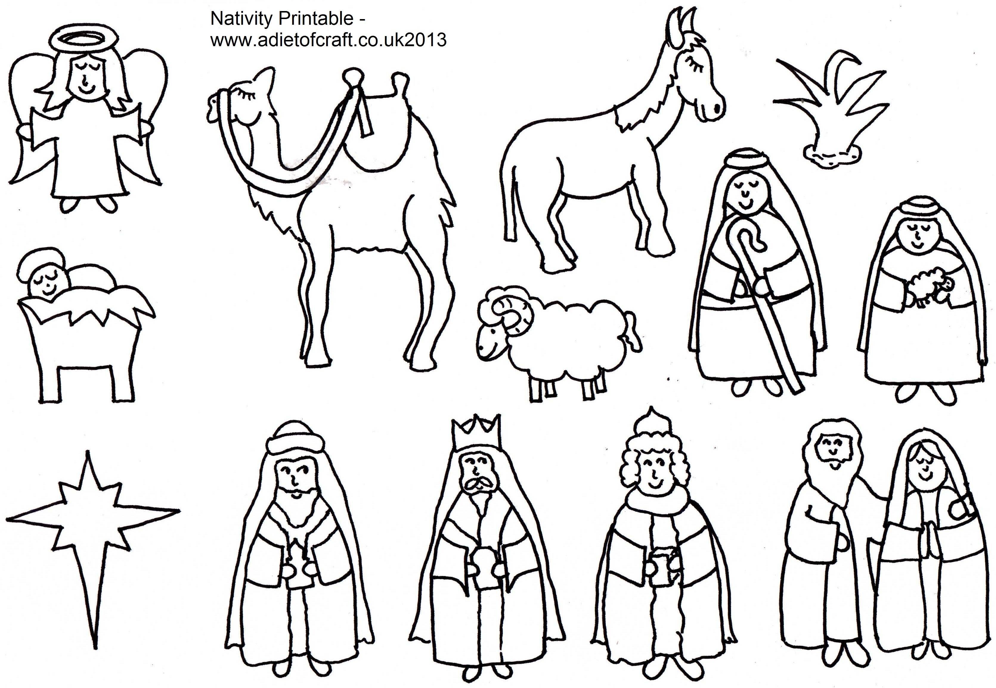 Nativity Scene Character Templates
