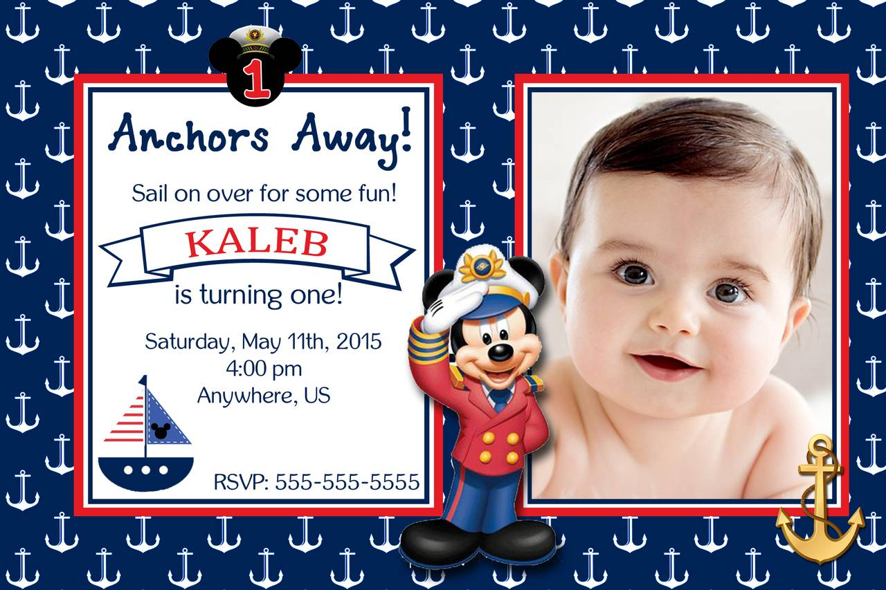 Nautical Birthday Invitation Templates