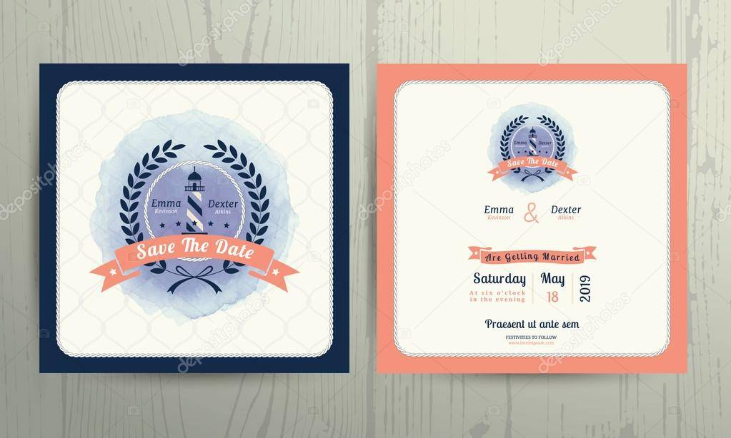 Nautical Invitation Card Template