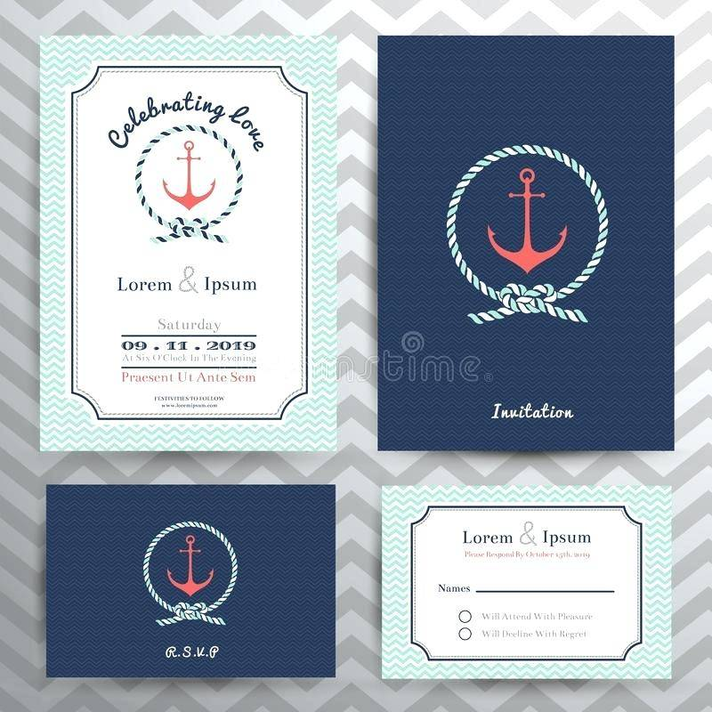 Nautical Invitation Samples