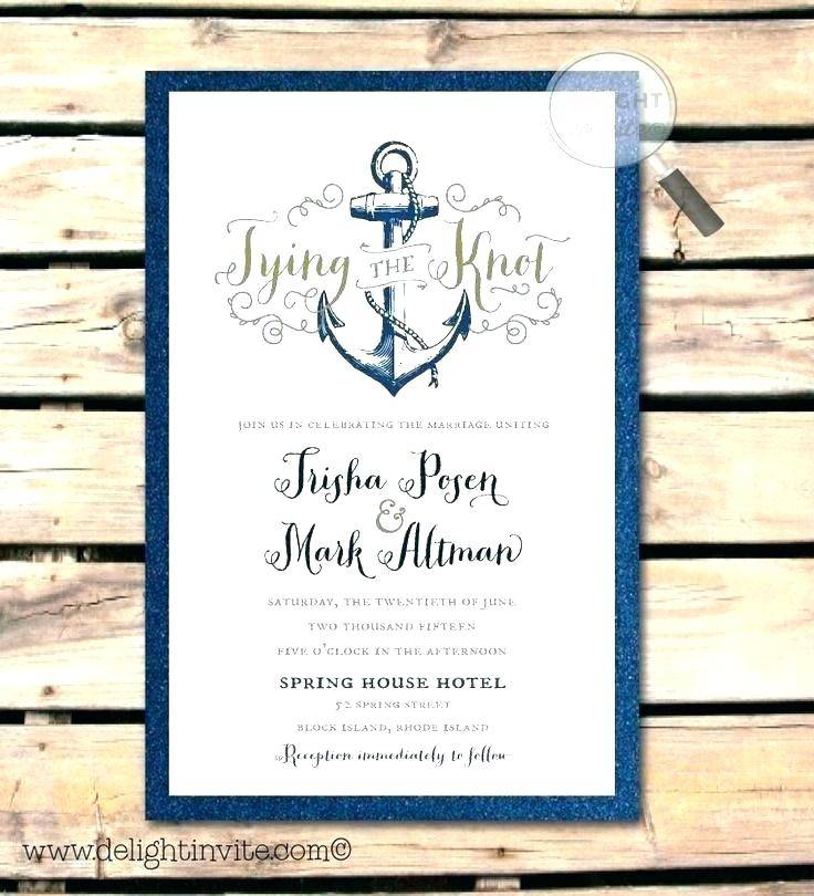Nautical Party Invitation Templates Free