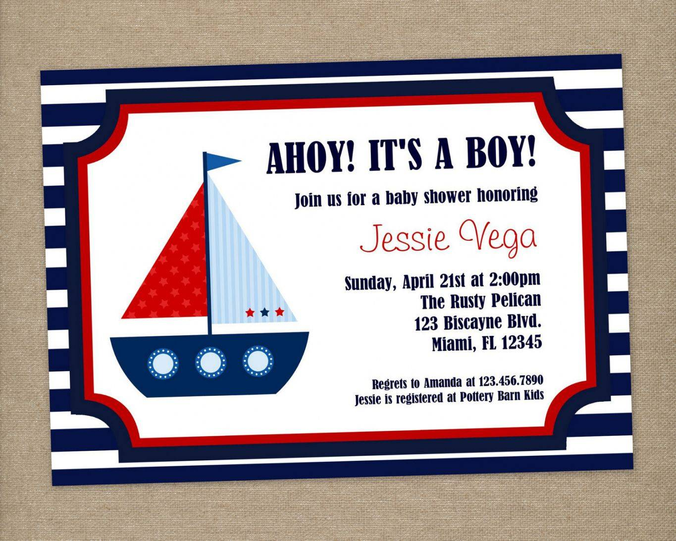 Nautical Themed Invitation Templates