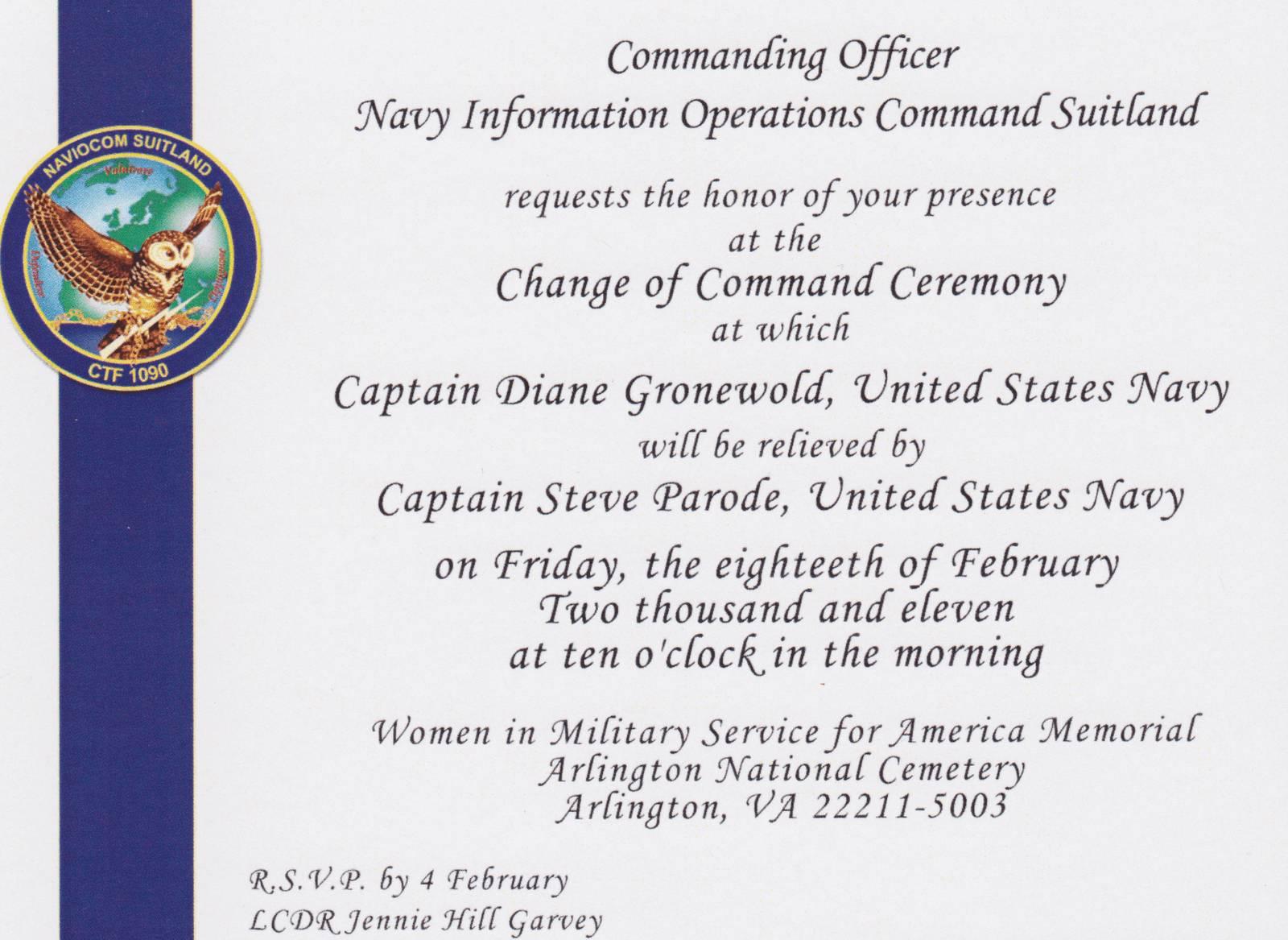 Navy Retirement Ceremony Program Templates