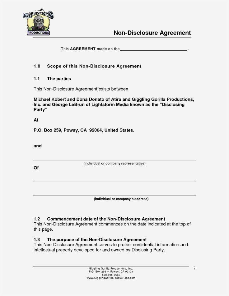 Nda Confidentiality Agreement Template