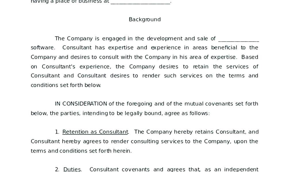Nda Contract Format
