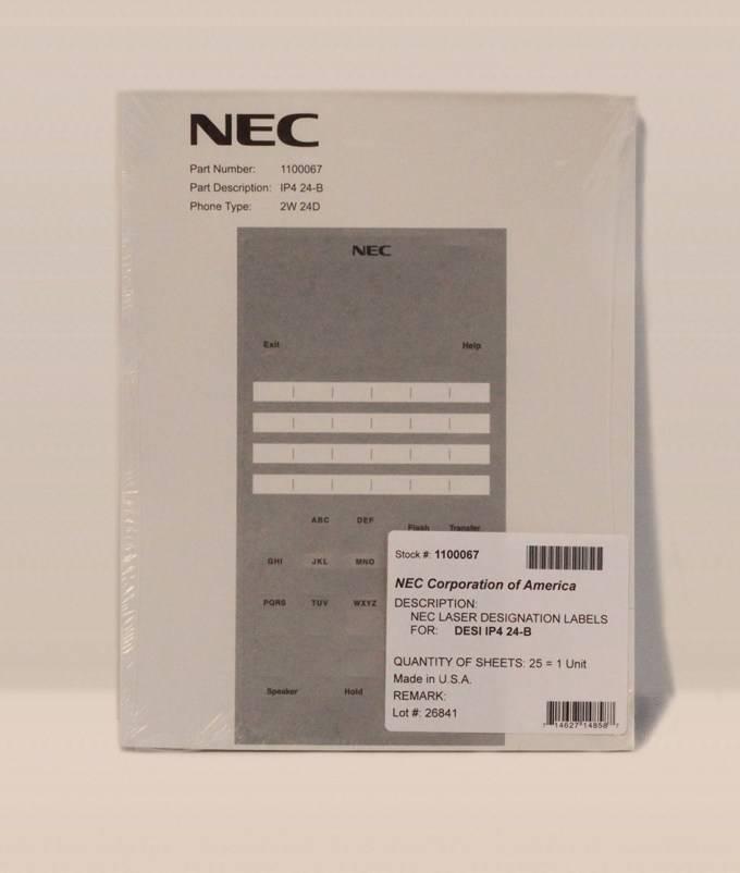 Nec Phone Label Template