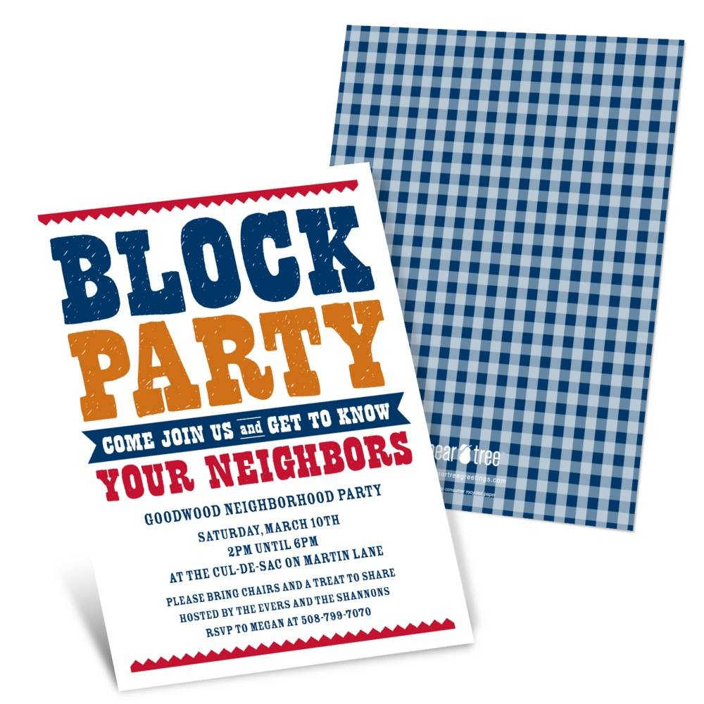 Neighborhood Block Party Invitation Template