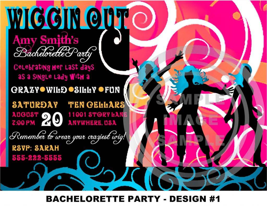 Neon Party Invitations Templates Free
