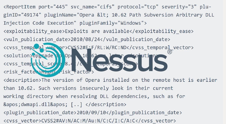 Nessus Report Format