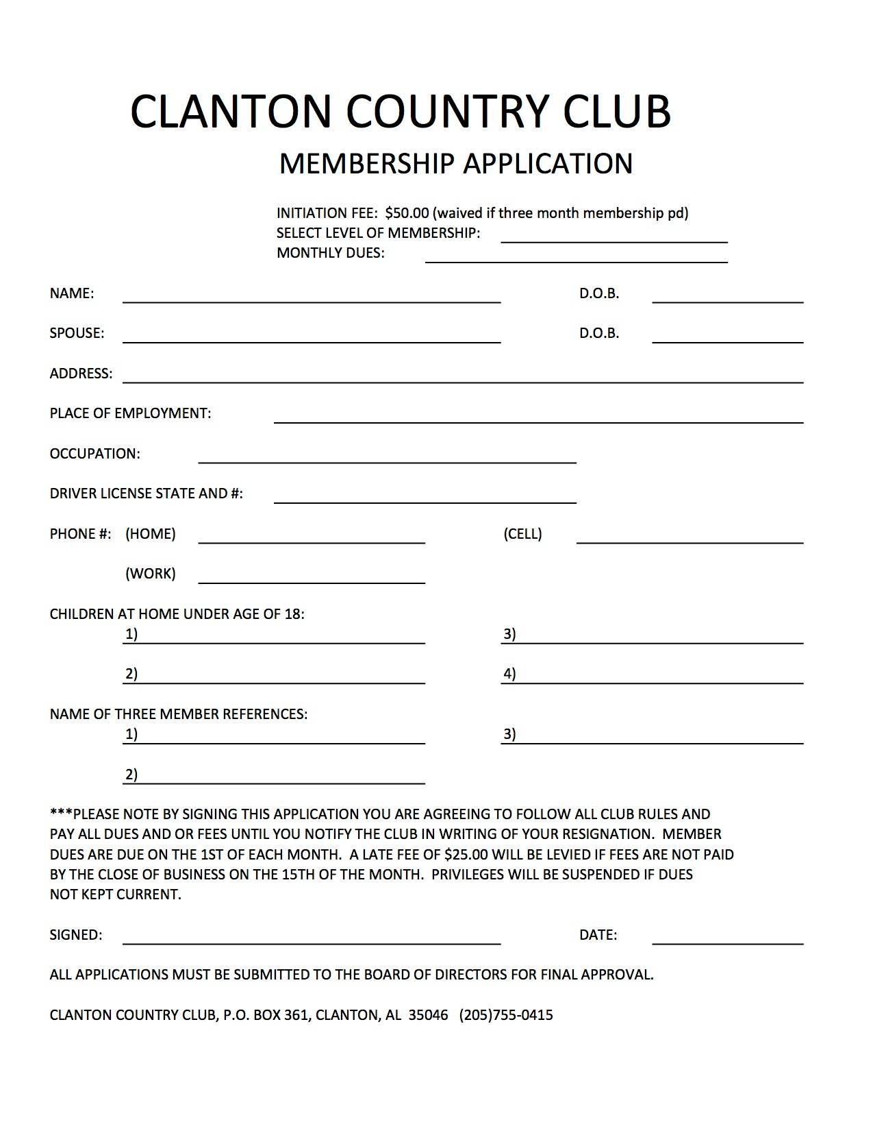 Netball Club Registration Form Template