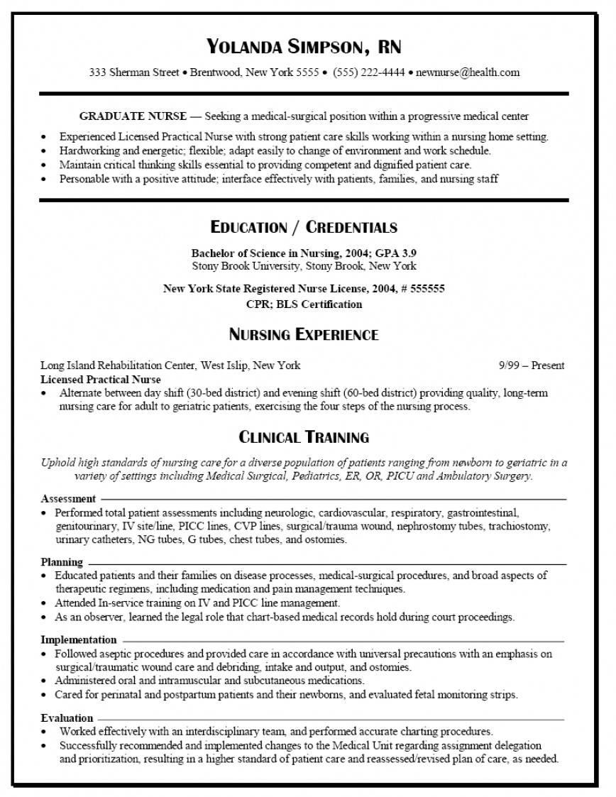 New Grad Nursing Resume Templates