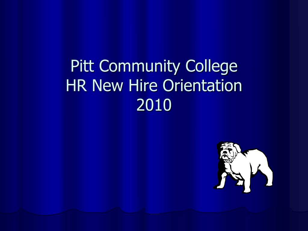 New Hire Orientation Presentation Ppt