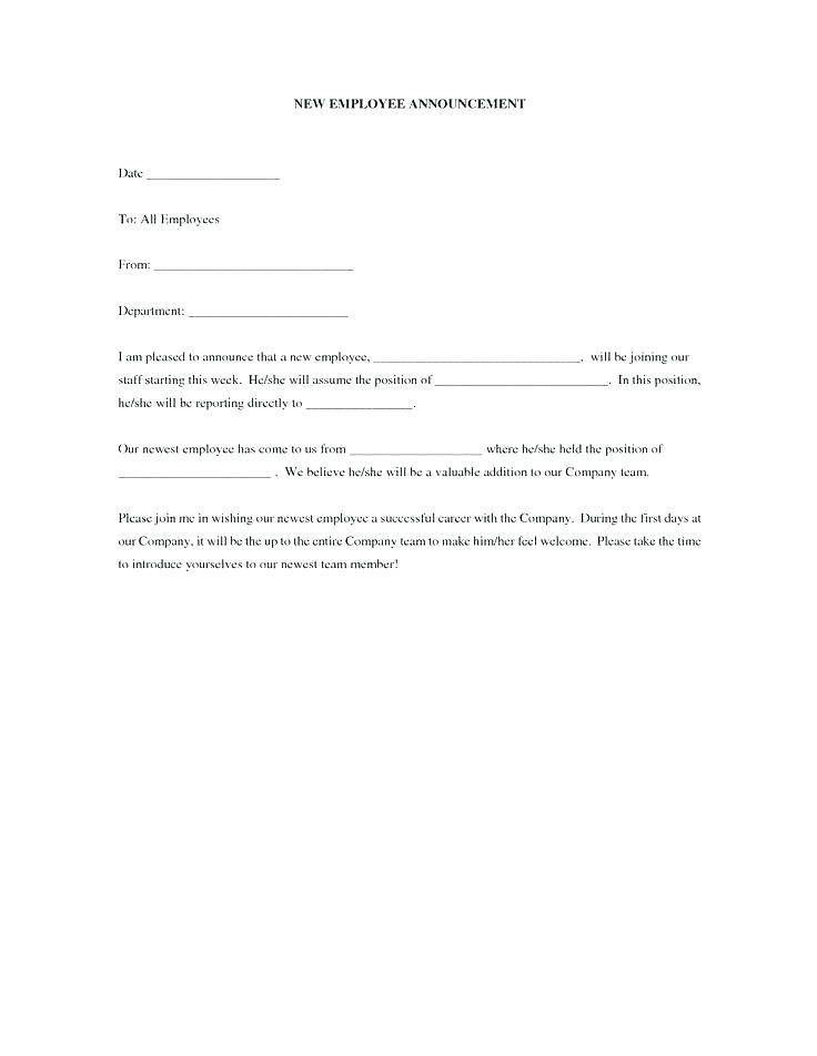 New Hire Paperwork Email Template