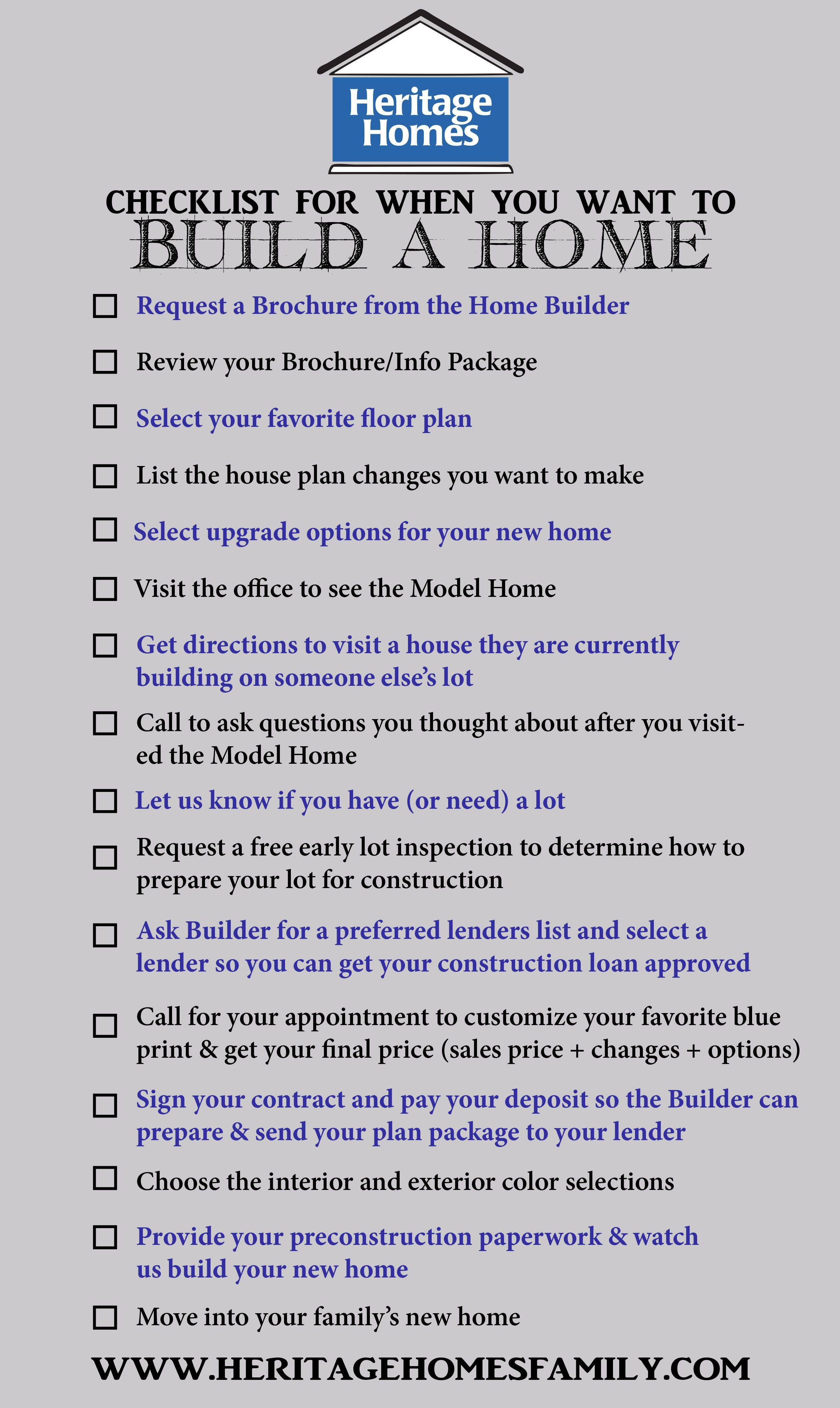 New Home Construction Punch List Template