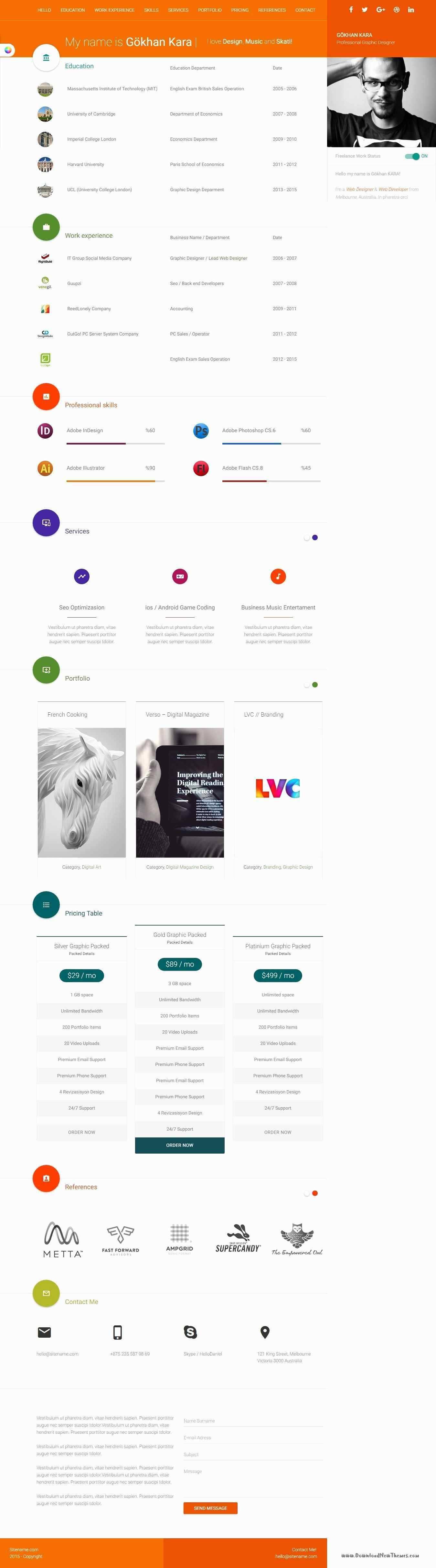 New Responsive WordPress Templates