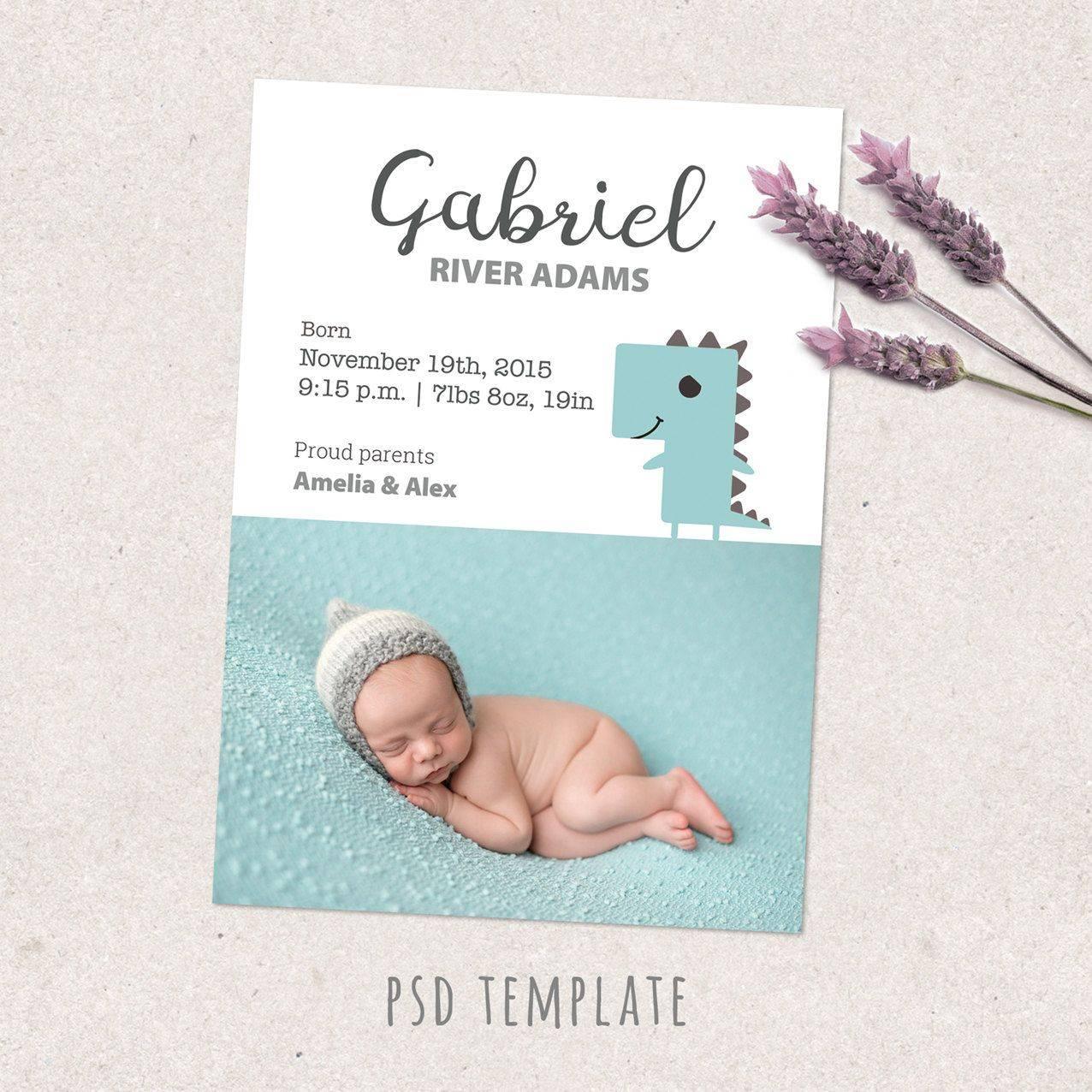 Newborn Baby Announcement Template