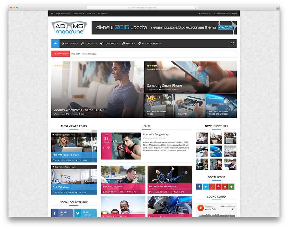 News Magazine Template WordPress