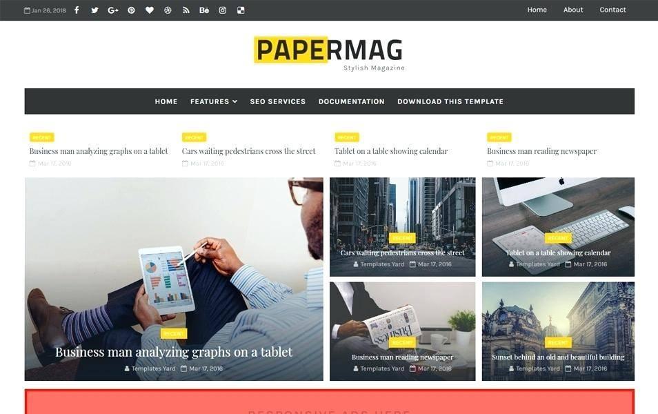 News Website Templates Squarespace