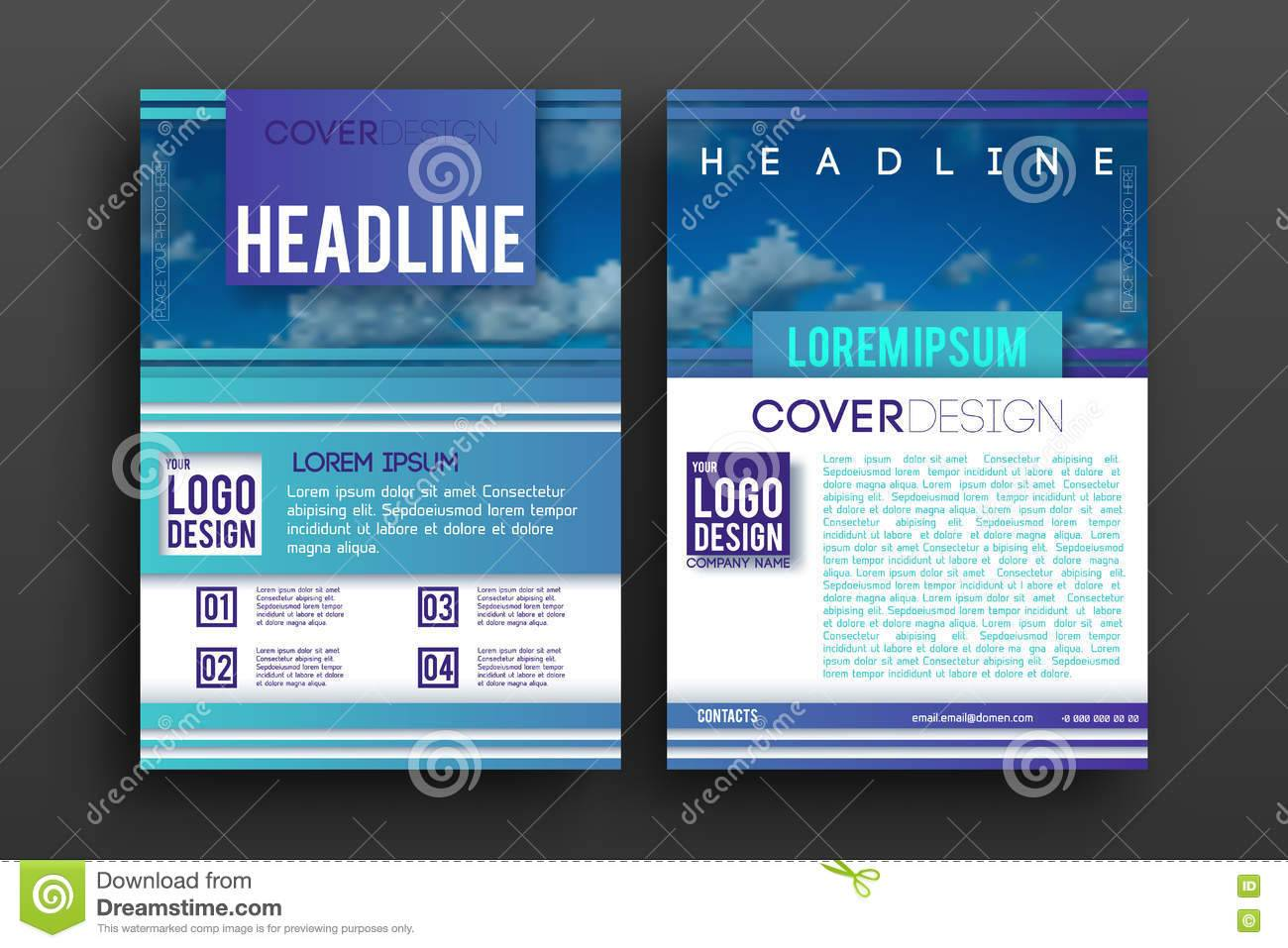 Newsletter Design Layout Template