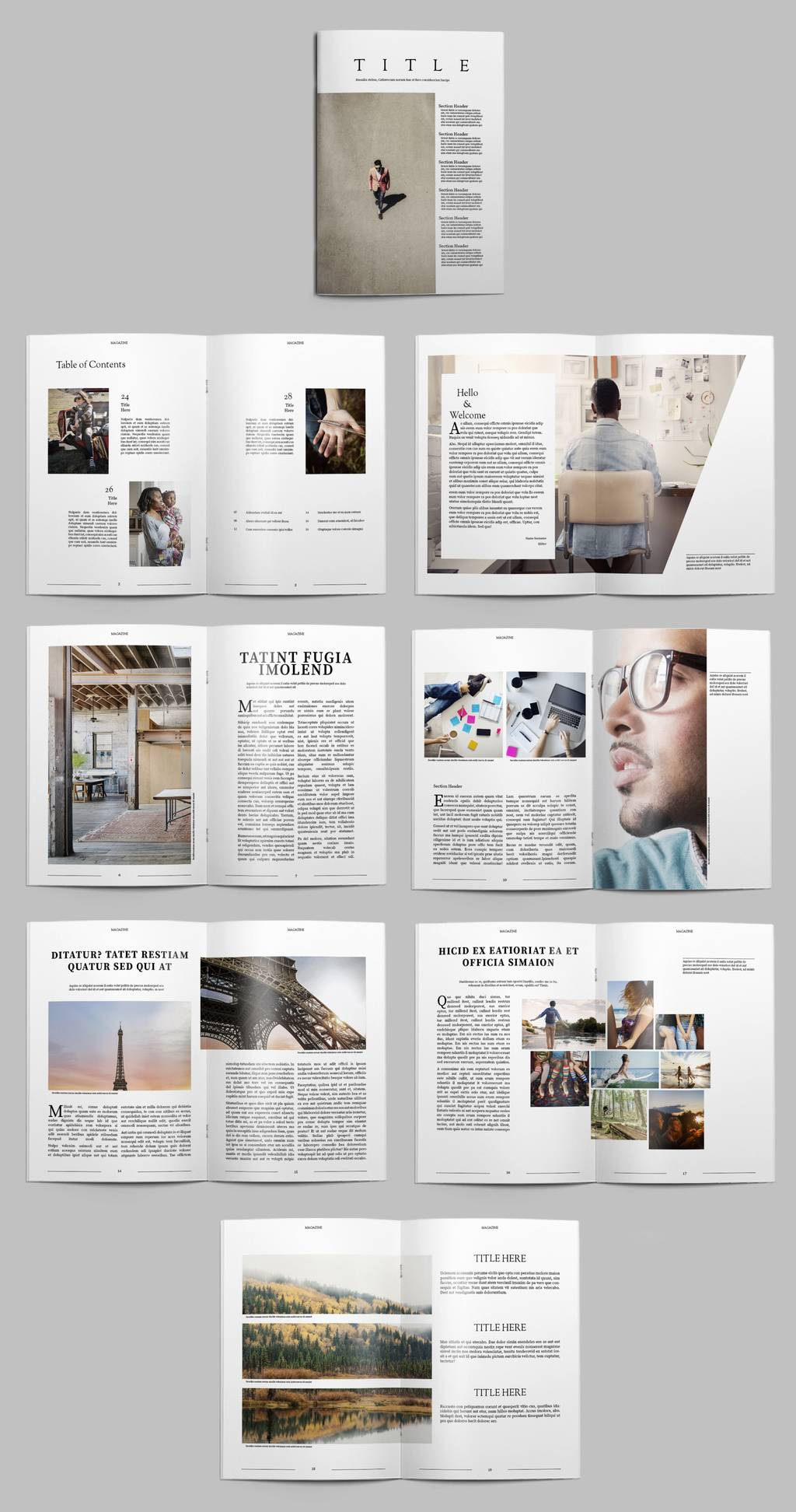 Newsletter Layout Template Free