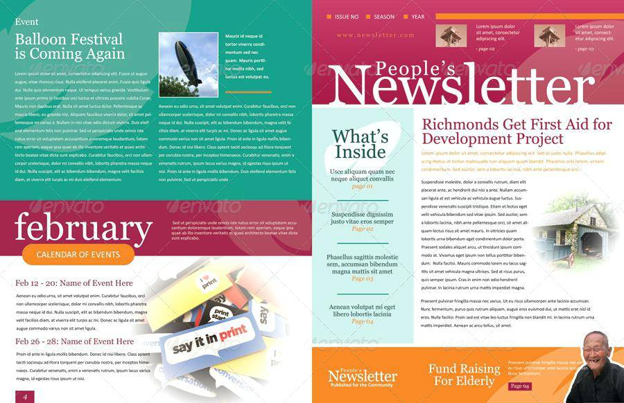 Newsletter Layout Template Indesign