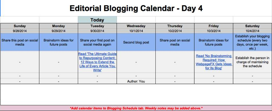 Newsletter Schedule Template
