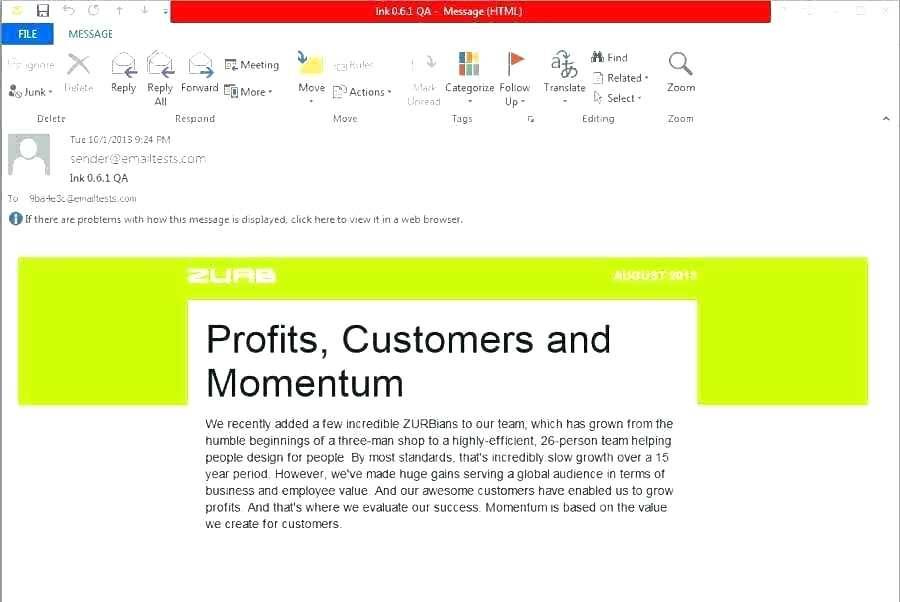 Newsletter Template For Outlook 2010