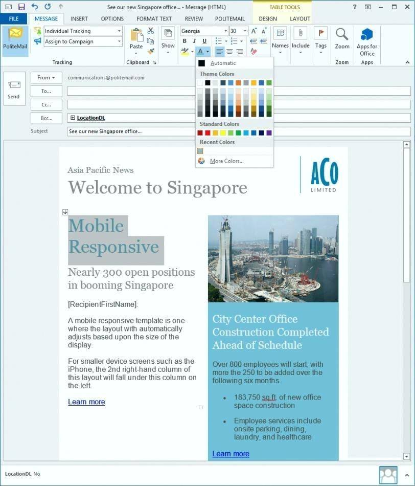 Newsletter Template For Outlook Email