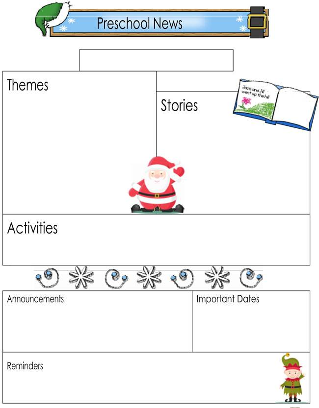 Newsletter Templates Word Preschool
