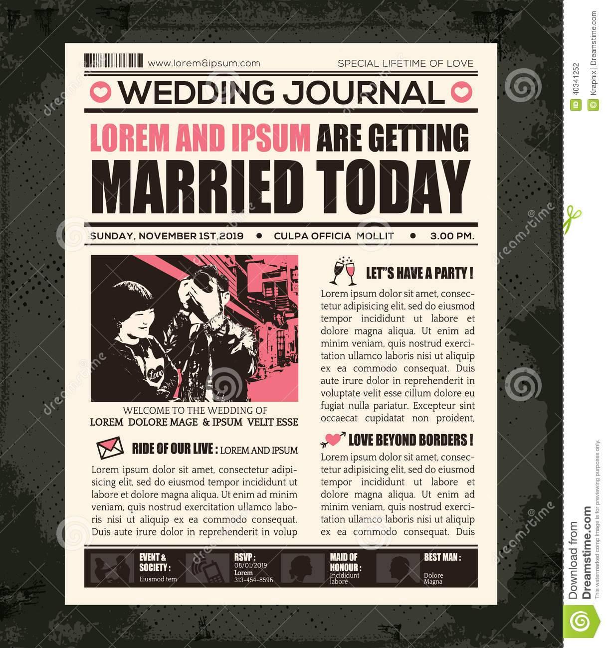Newspaper Invitation Template