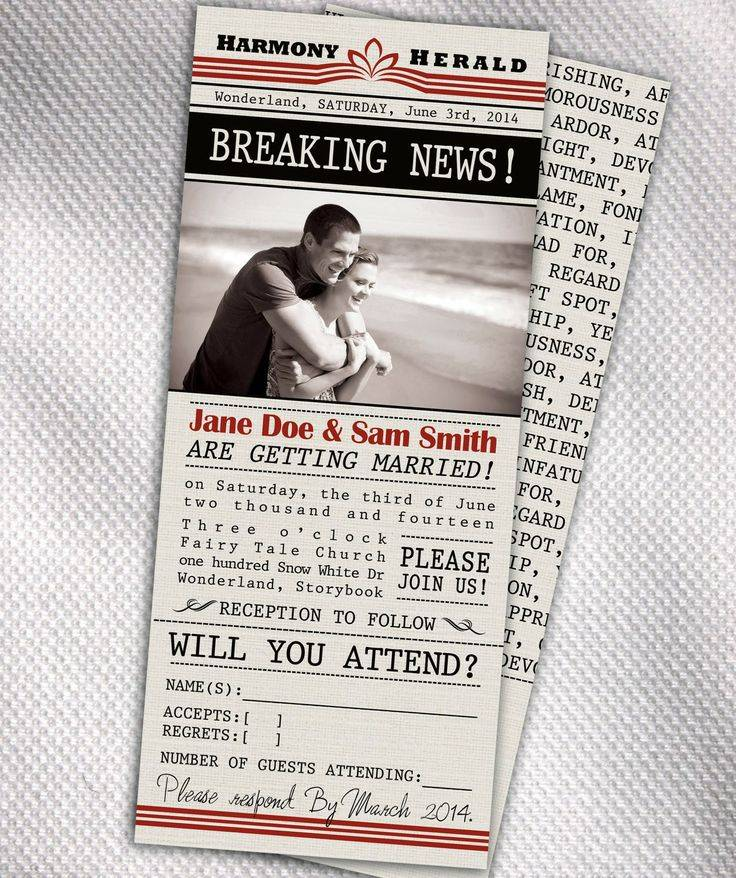 Newspaper Style Invitation Template