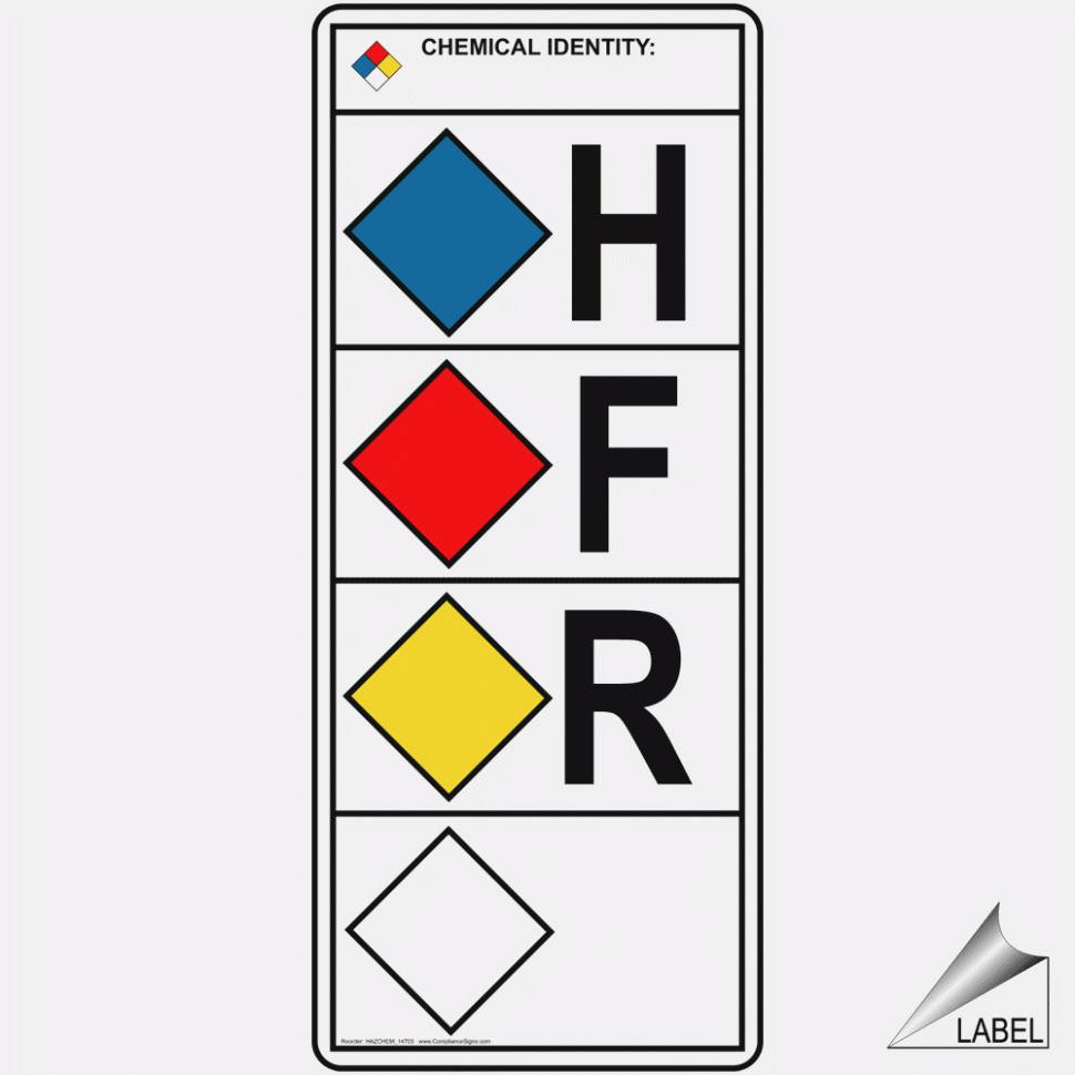 Nfpa Diamond Label Template