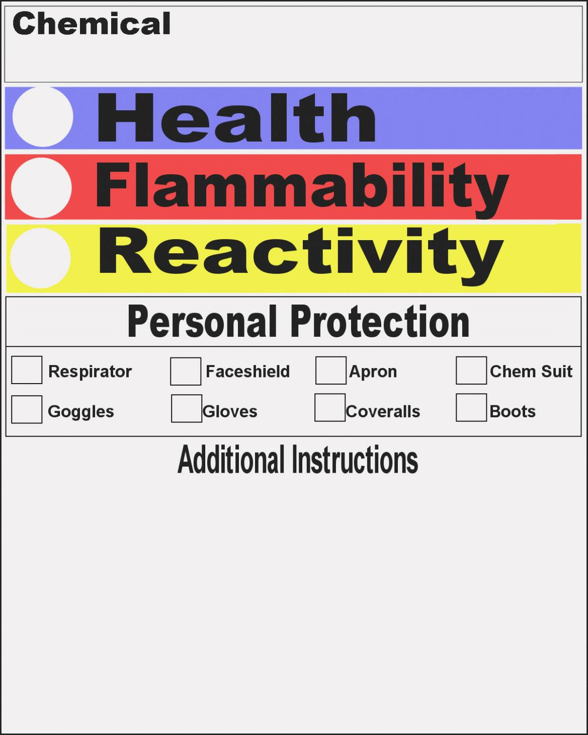 Nfpa Label Template