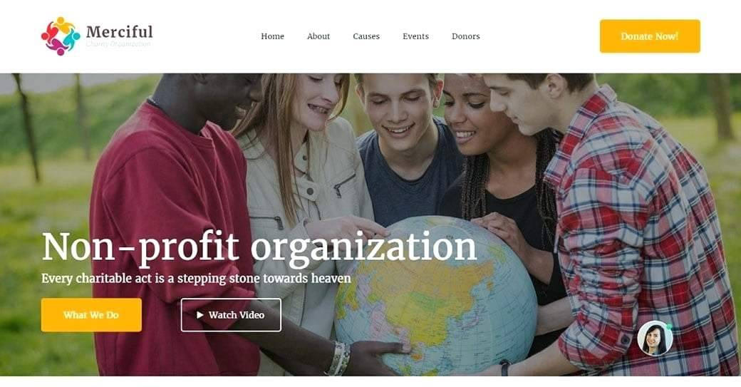 Ngo Website Template Free Download WordPress