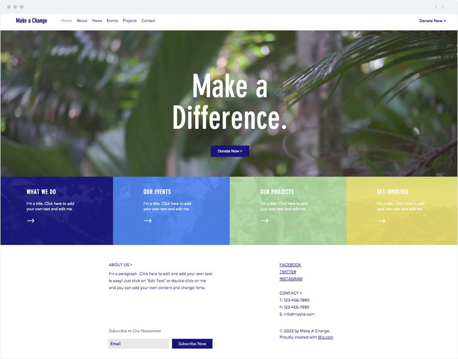 Ngo Website Template Wix