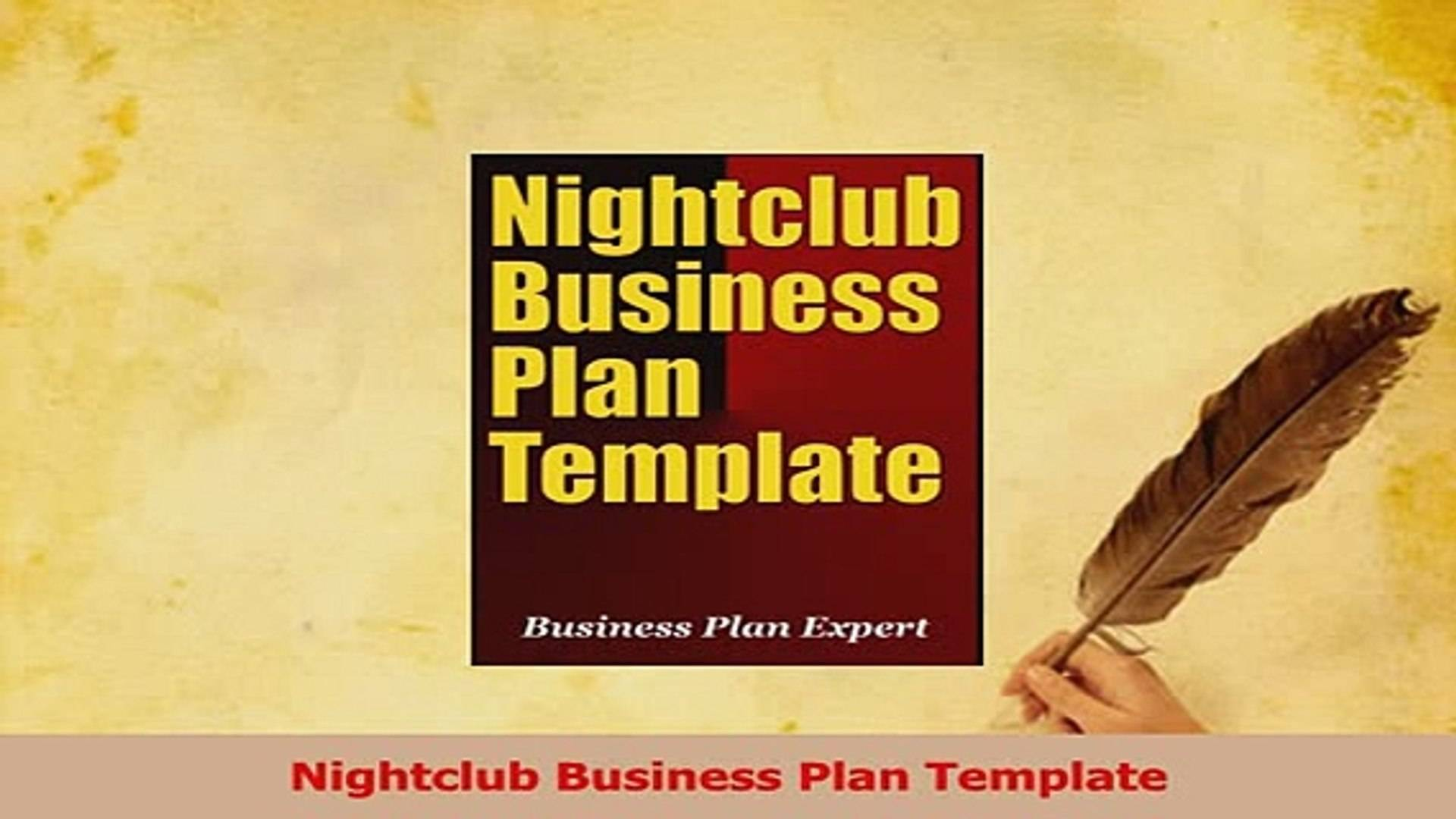 Nightclub Business Plan Template Pdf