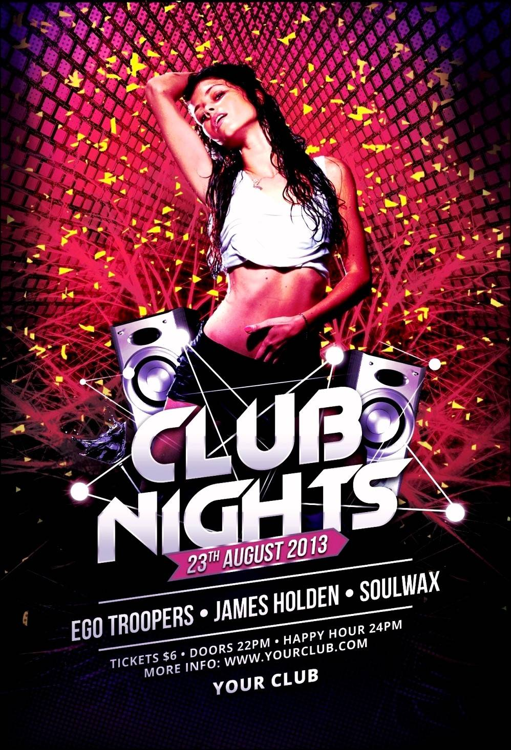 Nightclub Flyer Background Templates