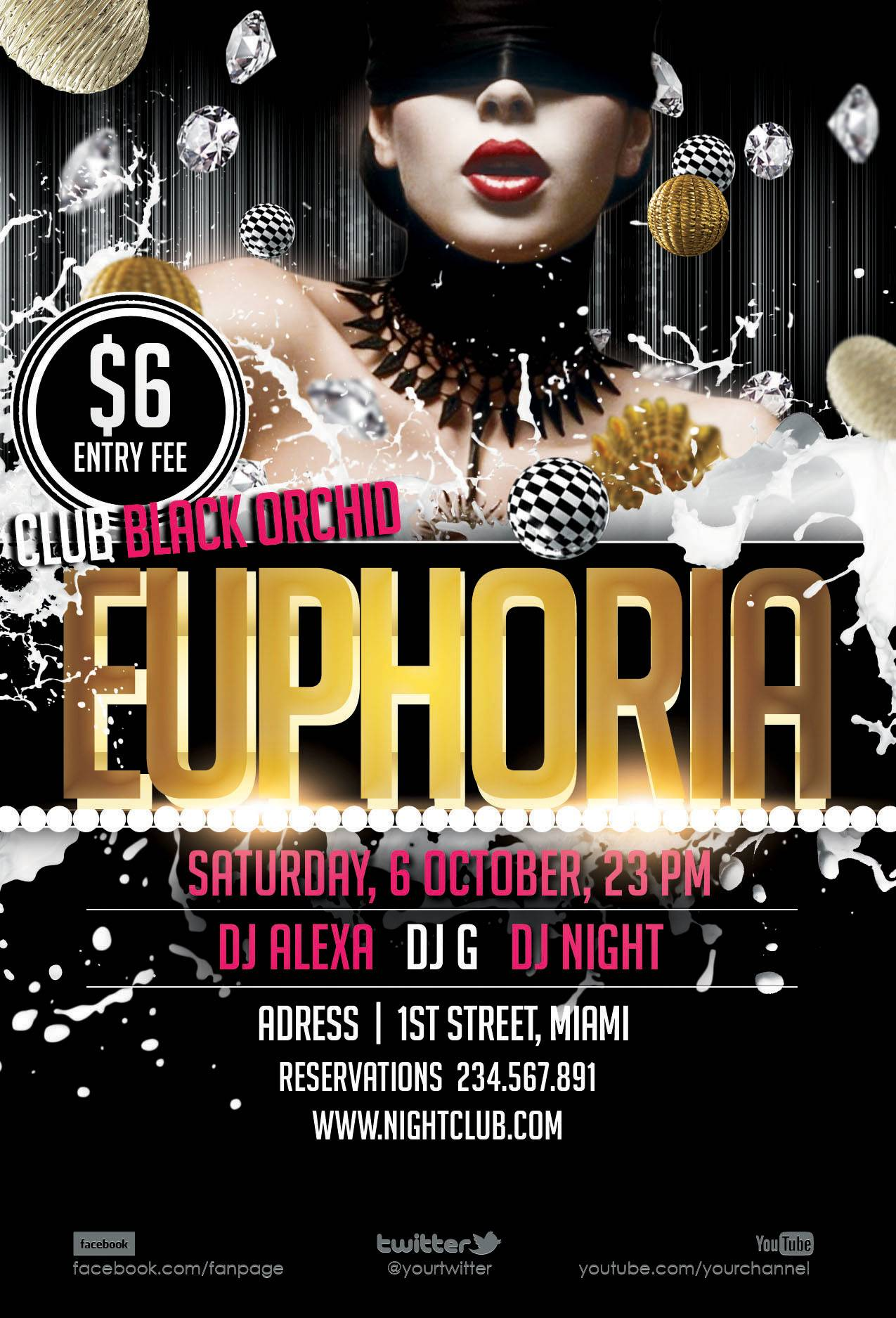 Nightclub Flyer Templates Photoshop