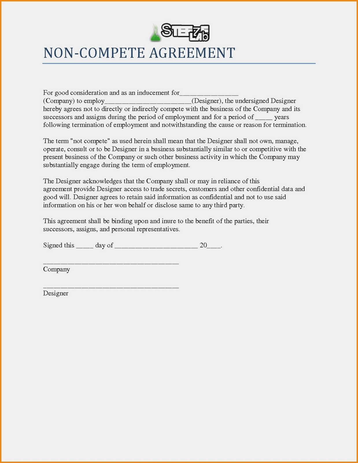 Non Compete Clause Example Switzerland