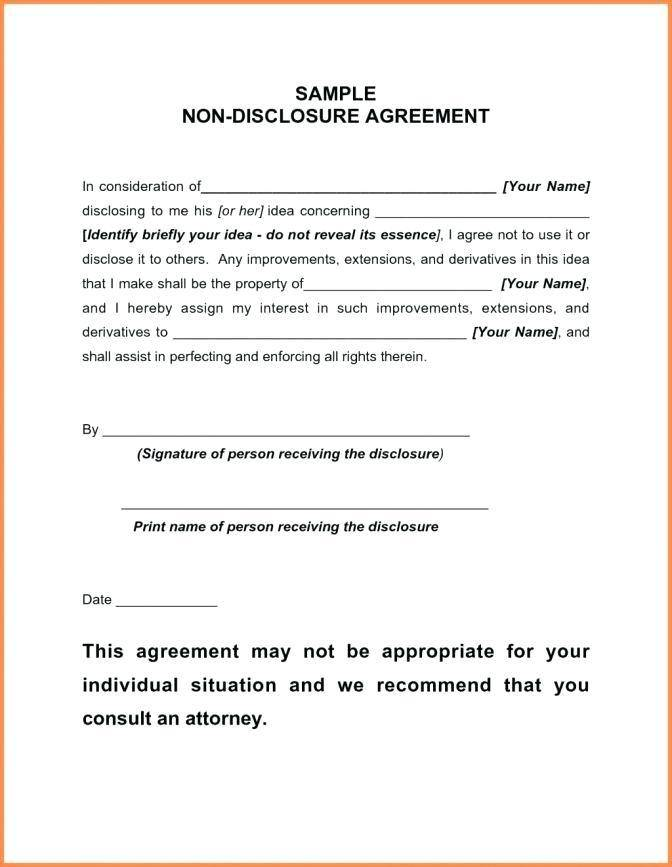 Non Disclosure Agreement Template Freelance