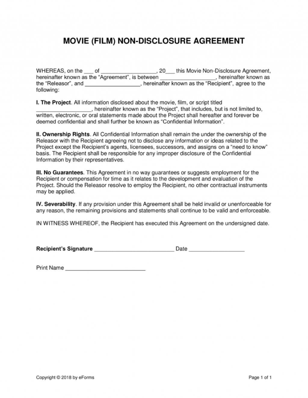Non Disclosure Agreement Template South Africa